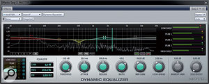 The Dynamic Equalizer plug-in is avery powerful addition to the effects line-up in DP8; versatile and flexible, it can work at track, group or mix level.