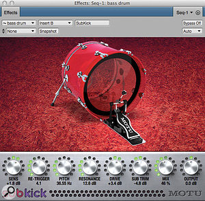 DP's new Subkick plug-in: bass-drum reinforcement without the hard work.