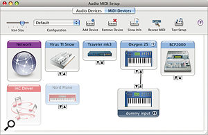 Prior to DP7.1, you often had to create 'dummy' devices in Audio MIDI Setup to persuade DP to communicate with those MIDI controllers or synths, which it thought were interfaces.