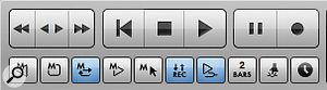 Here's DP's Control Panel with (from left to right) Memory Cycle, Auto-Record and Overdub mode enabled. Used separately and together, they can improve your recording experience and results.