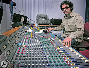 Gabriel Roth at the Trident desk in Daptone Studios.