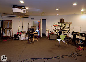 The basement area at Mutato Muzika, where Devo rehearse and where much of the new album was recorded.