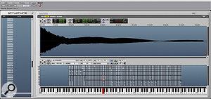 Many of the library sounds are extensively multisampled, such as this CP70 patch; you can see the zones displayed above the keyboard.