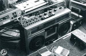 The band's collection of cheap tape recorders was widely used for interesting, lo‑fi sounds.