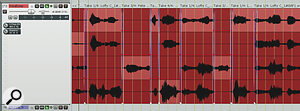 Typical vocal comps in Reaper and Ableton Live. Whatever DAW you use, the principle is the same: the best parts of multiple takes are snipped out and assembled on asingle track or playlist.