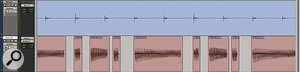 Here, I've used Pro Tools' Strip Silence function to automatically separate this synth bass part into one‑note regions, before manually aligning these with the kick drum.