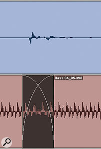 This slightly dodgy bass edit is effectively masked because it coincides with the kick drum above it.