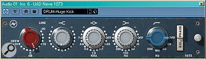 Why are some analogue EQs, such as the Neve model emulated below, so revered? It's because they do more than cut and boost frequencies: phase shifting and distortion also colour the sound. Linear–phase digital EQ is much more precise, but doesn't always sound as pleasing. Some plug–ins, such as the ddmf LP10 shown left, offer variable phase for each filter, giving access to the best of both worlds.