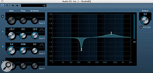 There aren't really any hard and fast rules for EQ — you do what sounds best — but a useful guideline is to use narrow notches for 'surgical' removal of unwanted frequencies, but gentle, broad boosts when looking to augment one aspect of a sound. You may be able to achieve more radical notches by combining more than one filter.