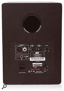 The metal rear panel doubles up as a heatsink, as well as providing high and low frequency controls and a master volume.