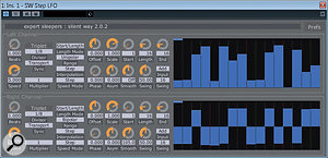 The Step LFO plug-in combines some of the attributes of an LFO and astep sequencer, to interesting effect.