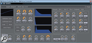 The Voice Controller plug-in is still the centrepiece of Silent Way, whether you use it with a generic audio interface or with Expert Sleepers' own hardware.