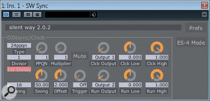 Rather than program drum sequences over MIDI, many people prefer to use their drum machines' onboard sequencers and sync them via aclock signal. Expert Sleepers' Sync plug-in makes this possible.