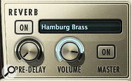 The default convolution reverb preset in HB is 'Hamburg Brass', a hybrid created by co-producer Nick Phoenix from two Quantum Leap Spaces presets. Some of the other onboard reverbs are based on impulse responses captured in the concert hall used to record the EWQL Symphonic Orchestra library.