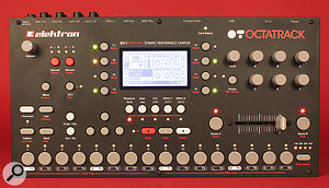 The Octatrack's front panel, which measures 34 x 18cm, provides hands‑on control of each and every function — no software editors here!