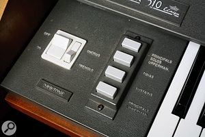 The Orbitone panel allowed selected sounds to be treated with a gentle but effective Chorus or Tremolo effect.