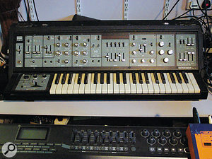 """This is the major machine,"" says Paul Epworth of his Roland SH5, ""though the bottom end isn't so good, and for that reason, for bass lines I tend to use the Arturia Minimoog."""