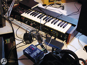 "Epworth is fond of the unheralded Minikorg 700S. ""It's so easy to get interesting sounds out of it just by flipping a few buttons,"" he says. ""I use it MIDI'd up, but I'll quite happily use it without, it's quite playable for creating little sound effects or whining Dr. Dre lead lines."""