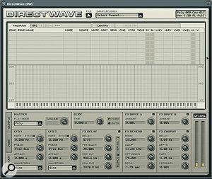 The <em>Direct Wave </em>sampler: new in version 6, updated in version 7.