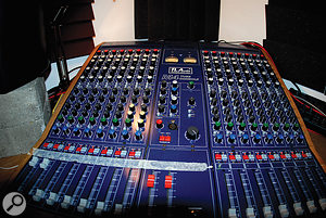 The centrepiece of the studio is a TL Audio M4 valve console.