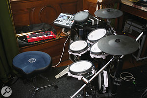 The Feeling's unusual tracking approach involves laying down basic takes as a  band, but with Paul Stewart playing V–Drums to avoid spill. These are later replaced by real drums.