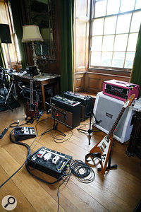 A variety of guitars, amps and mic placements contribute to the Feeling's sound, often layered for extra depth.