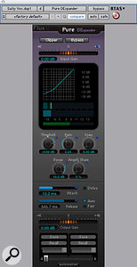 Pure DExpander is a  low–level compressor that reduces the dynamic range of signals below a  threshold value.