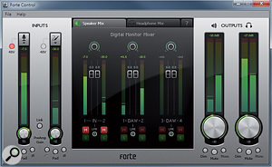 Focusrite's Forte Control software.
