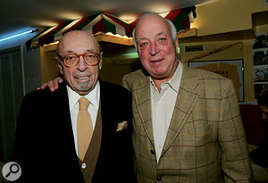 Seymour Stein (right) with Atlantic Records founder Ahmet Ertegun.