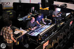 Front-of-house engineer Ron Reaves, sitting at the Digico SD7 that was used to mix the live performance.
