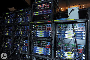 The front-of-house system was powered by Powersoft K10 amplifiers, fed from the digital outputs of XTA speaker-management systems.
