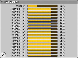 Unlike Accel cards, each DSP on an HDX card has sufficient resources to run areverb such as ReVibe II.