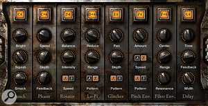 The 'Trigger FX' screen shows eight user-programmable, transformative effect presets which can be activated on the fly with keyswitches.