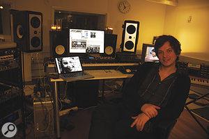 Jonas Quant put together his studio in adisused radio station.
