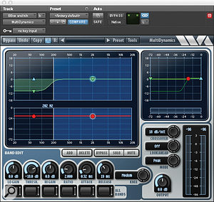 A selection of the plug–ins Ed Boyer used on the aux track through which Kevin Olusola's beatboxing was routed: Wave Arts' MultiDynamics, SoundToys' Decapitator distortion, the multi–band version of Waves' Trans–X transient shaper, FabFilter's Pro–Q 2 equaliser and the single–band TransX.
