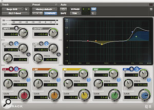Ruadhri Cushnan gets alot of use from the stock plug‑ins that come with Pro Tools, like the Digirack EQ III — here being used to shape the banjo subgroup.