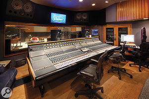 Only eight of the 56 inputs available on the Neve 8068 in Capitol Studio B were used.