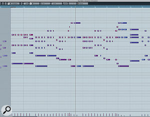 Brandon Lowry's piano part was initially programmed in Cubase.