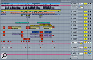 The initial piano and vocal demo was turned into afinished track by Daniel Omelio in Ableton Live, with most of the additional parts coming from IK's Miroslav Philharmonik.