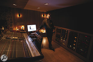 Philippe Zdar in his own Motorbass Studio in Paris.