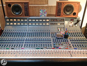 Punkerpad West is based around two Neve 8068 mixers. This is the main one, through which all the source tracks pass.
