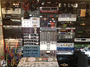 The Punkerpad West wall of outboard: Andrew Scheps' retirement fund!