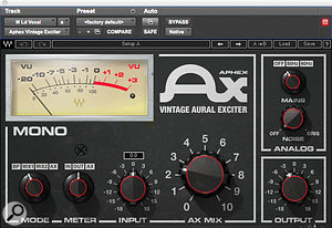 Waves' Aphex Vintage Aural Exciter was used to add extra 'air' to the vocal.
