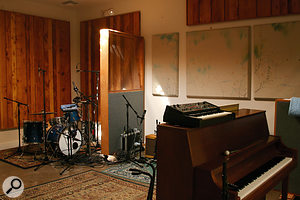 The live area at Solar Powered Plastic Plant Studios, where most of Sleep Through The Static was recorded.