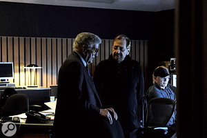 Tony Bennett in discussion with the album's co-producer, Phil Ramone.