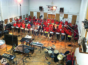 Steel band Nostalgia in Abbey Road Studio 2.