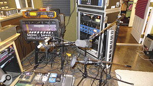 """Nathan Chapman's approach to recording instruments is refreshingly simple: """"Ihave three or four microphones that Iswing into place when Ineed them and swing back when Idon't."""""""