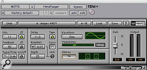 The track's main keyboard sound was processed using Waves' Metaflanger and Enigma, to make it 'spaced out', while MondoMod was used to add movement to the synth pad.