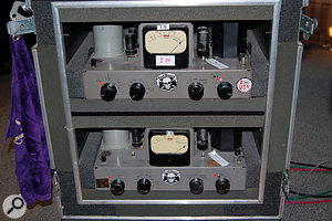 The RCA BA6A compressor on the drums was one of very few pieces of outboard used during Mike Fraser's mix.