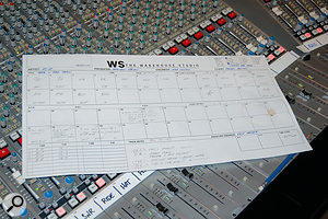 The track sheet for 'Rock 'n Roll Train'